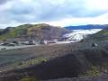À l'approche du Solheimajökull