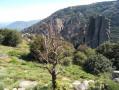 Saint-Martin du Froid par le ruisseau et le château de la Roque