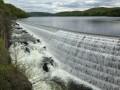 Dam water falls