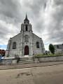Façade et clocher de l'église de Macon
