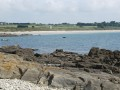 La plage de Raguénez vue de l'île.