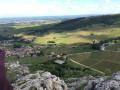 Panorama vu du sommet de la Roche