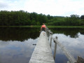 Ponton au-dessus du lac