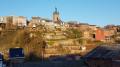 Ville haute de Thuin coté vallée de la Biesmelle.
