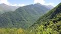 Vue en descendant chemin muletier sur la vallée de Vicdessos