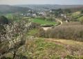 Vue sur Dourbes à partir des ruines du château