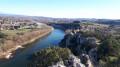 Vue sur la fin des Gorges de l'Ardèche