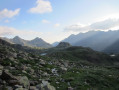 Vue sur les montagnes ariègeoises depuis le port de Bouet